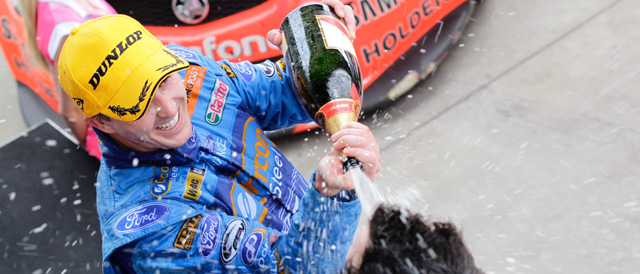 Winterbottom celebrates Tradingpost Perth Challenge opening race win Photo credit: Ford Performance Racing