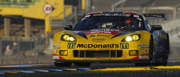 Julien Canal, Patrick Bornhauser and Pedro Lamy combined to win LMGTE Am (Photo Credit: V Images)