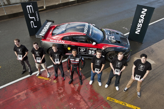 The six territory winners (pictured with Jann Mardenborough) now face their first proper race (Photo Credit: Nissan GT Academy)