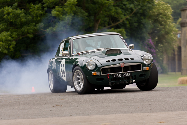 Historic and modern cars compete for the best time of the weekend (Photo Credit: Mike Lambert/Gridshots.com)