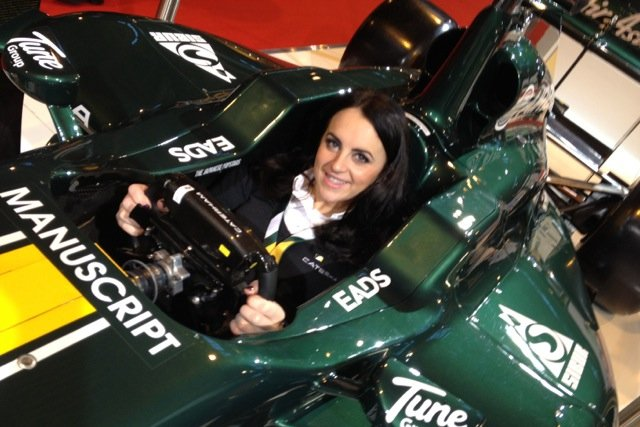 Laura at the F1 wheel, but still searching for 2013 drive in cars