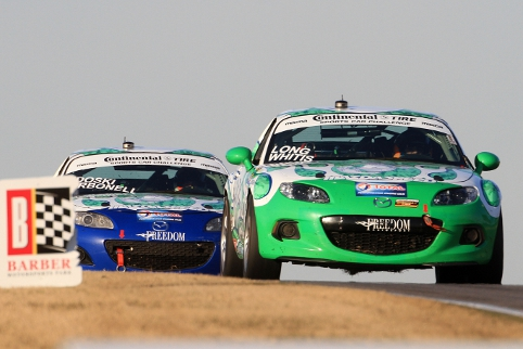 Tom Long and Derek Whitis led a MX-5 1-2-3 in ST (Photo Credit: Grand-Am)