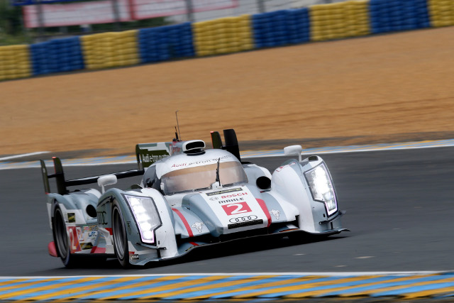 Duval was fastest in both morning and afternoon, with a crash in between (Credit: Audi Motorsport)
