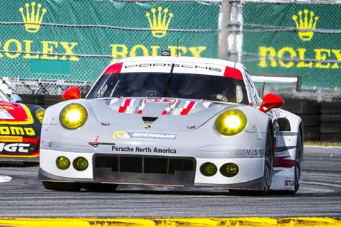 Patrick Pilet resisted late pressure to give Porsche North America a debut win (Credit: Rolex/Stephan Cooper)