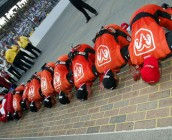 Kissing the bricks at Indy (Credit: Jonathan Ferrey/Getty Images)