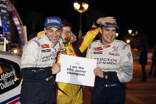 2014 WRC Junior champion Stéphane Lefebvre secured the ERC Junior title