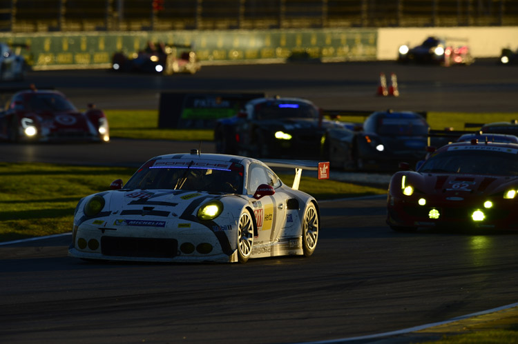 The #911 Porsche RSR carried its battle scars to fifth in class. (Credit: IMSA.com)