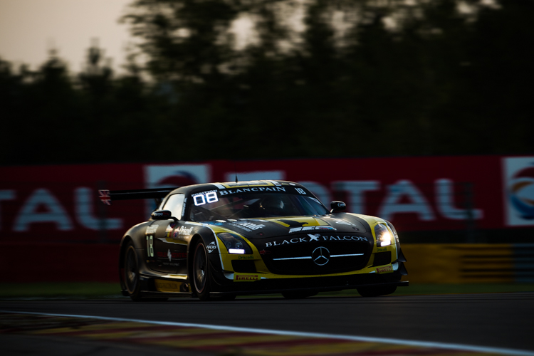 Penalty dropped the #18 Black Falcon Mercedes out of the top ten (Credit: Tom Loomes Photography))