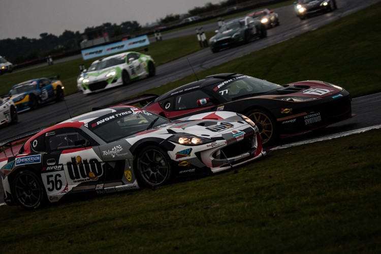The battle for second in GT4 may get physical as three cars battle for the runner up spot. (Credit: Nick Smith/TheImageTeam.com)