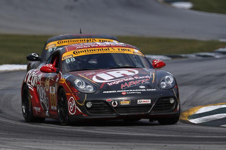 Fergus already had experience in a Porsche Cayman, with in the 2014 CTSC season (Credit: Michael L. Levitt/LAT Photo USA/IMSA)