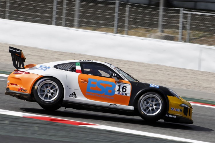 Cairoli was fast if erratic. (Credit: Porsche AG).