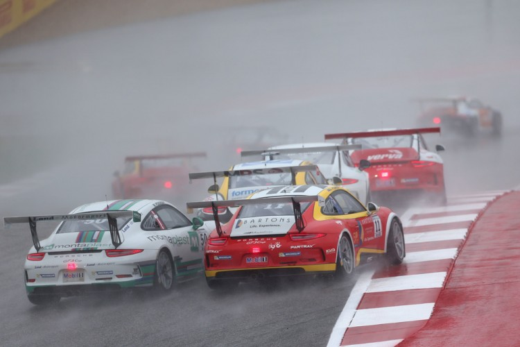 Off into the distance, Supercup success looks set to continue. (Credit: Porsche AG)