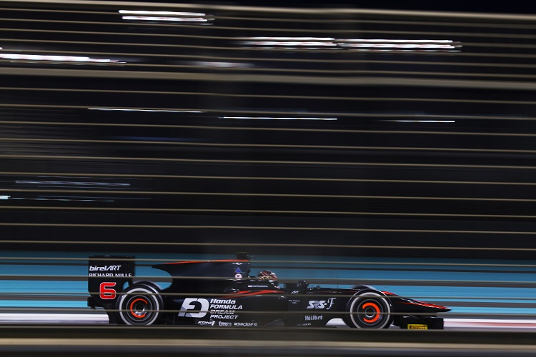 Nobuharu Matsushita topped the third and final day of the test. Photo: Sam Bloxham / GP2 Series Media Service.