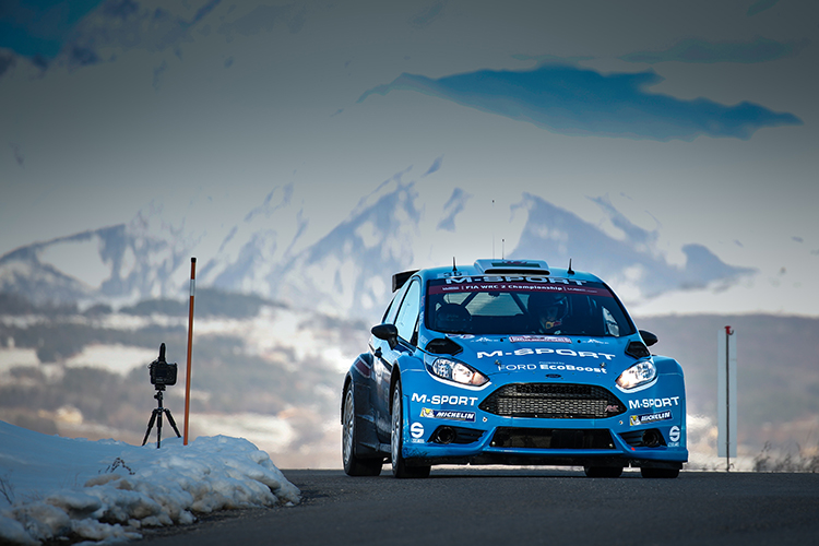 With 7 wins from 8 stages, Welshman Elfyn Evans in control of WRC2 for M-Sport. (Credit: McKlien/M-Sport WRT)