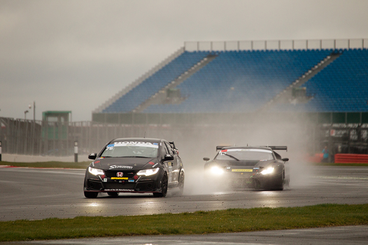 No stranger to wind and rain, the Synchro Motorsport Honda Civic took class 5 victory. (Credit: Nick Smith/TheImageTeam.com)