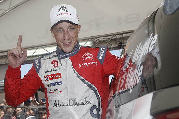 Kris Meeke raring to go for Rally Finland. Credit: @World Photography