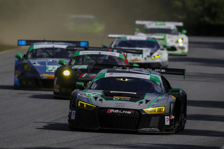 Magnus Racing left it late to take GT Daytona victory (Credit: IMSA)