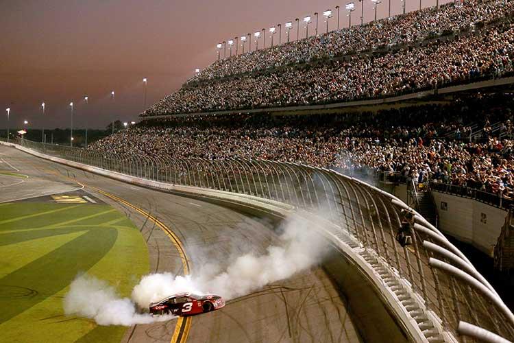 Austin Dillon celebrates his 2018 Daytona 500 victory
