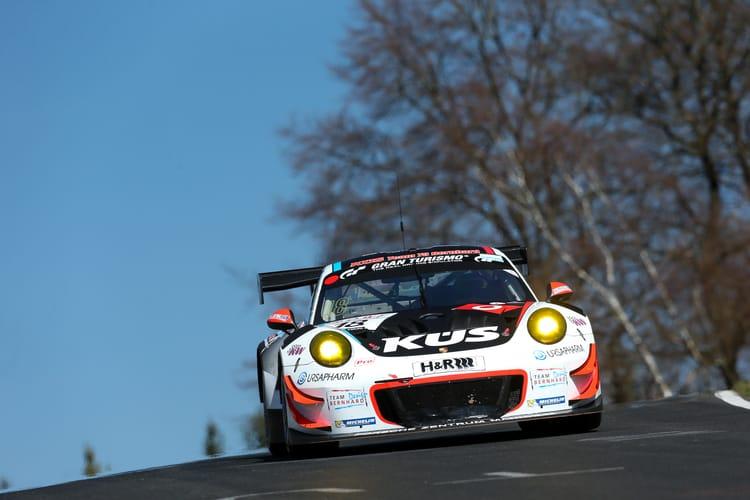 VLN 2. Lauf 2018, Nürburgring-Nordschleife - Foto: Gruppe C Photography; #18 Porsche 911 GT3 R, KÜS Team75 Bernhard: Andre Lotterer, Lars Kern