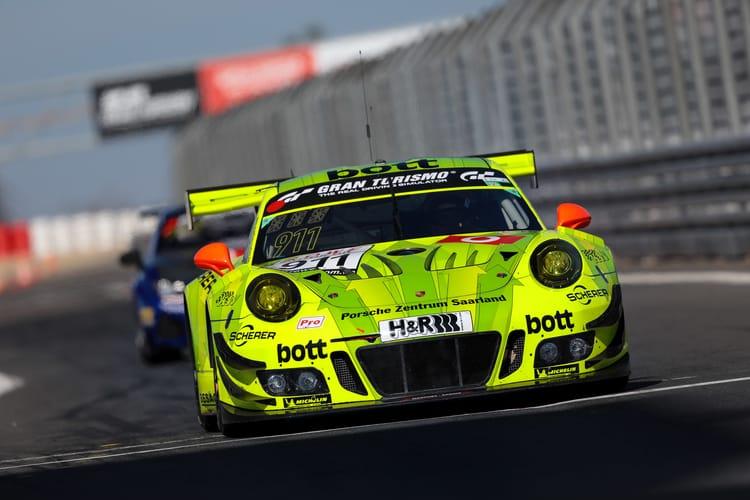 VLN 2. Lauf 2018, Nürburgring-Nordschleife - Foto: Gruppe C Photography; #911 Porsche 911 GT3 R, Manthey Racing: Patrick Pilet, Laurens Vanthoor, Earl Bamber