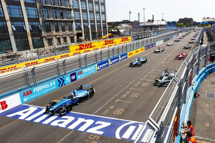 Sebastien Buemi, Mitch Evans- Formula E Grid- New York City
