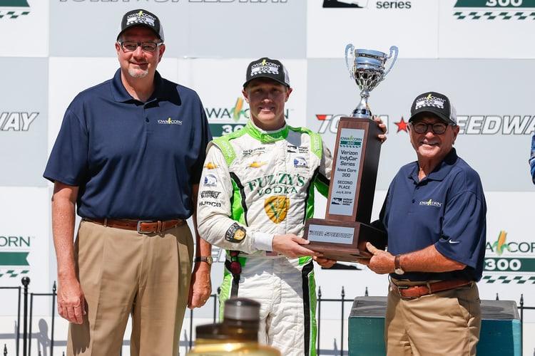 Spencer Pigot (USA), Ed Carpenter Racing, 2018 Verizon IndyCar Series, Iowa Speedway