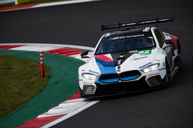 The #82 BMW MTEK Team racing to second in class after struggling with race pace.