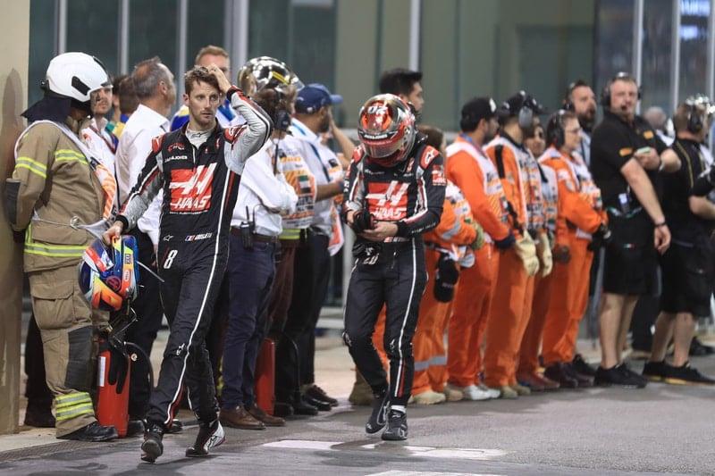 Romain Grosjean and Kevin Magnussen