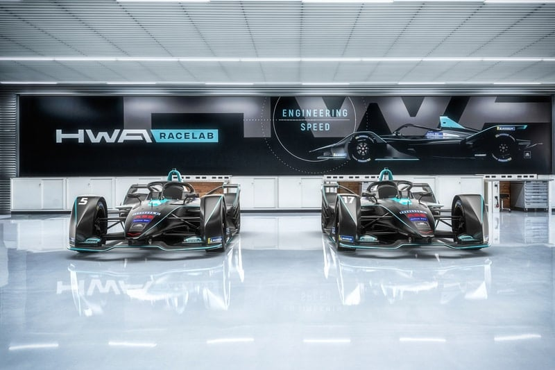 HWA Racelab Gen-2 cars showroom