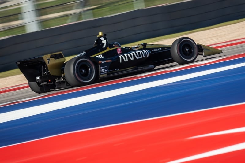 Marcus Ericsson (SWE), Arrow Schmidt Peterson, 2019 NTT IndyCar Series, Circuit of the Americas test