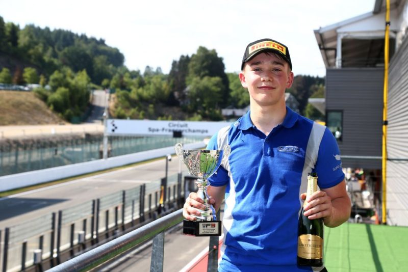 Billy Monger - Carlin at the Circuit de Spa-Francorchamps during the 2018 BRDC British Formula 3 Championship
