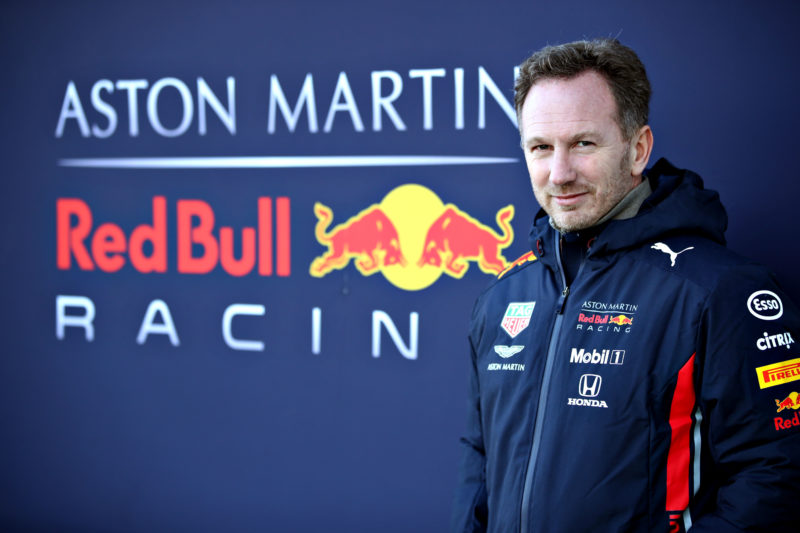 Christian Horner - Aston Martin Red Bull Racing at the RB15 Filming Day at Silverstone