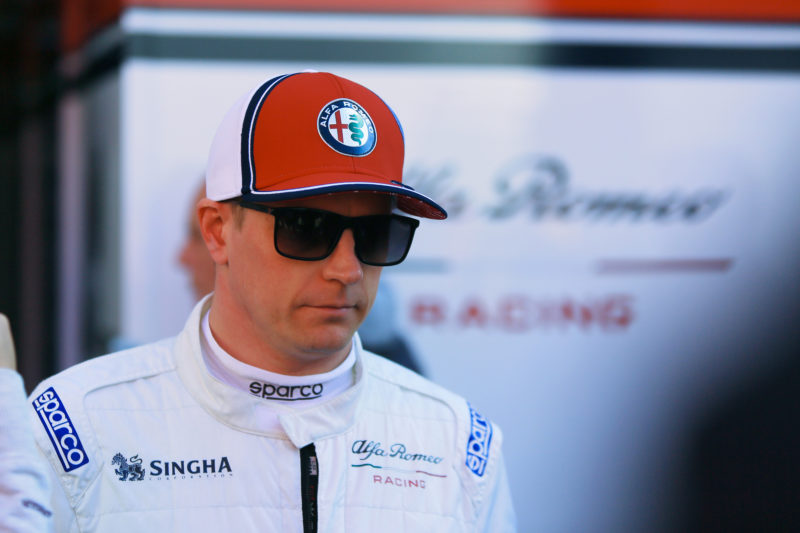 Kimi Raikkonen - Alfa Romeo Racing at the Circuit de Barcelona-Catalunya for 2019 FIA Formula 1 World Championship Pre-Season Test One: Day One