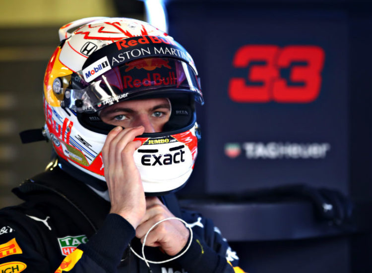 Max Verstappen - Aston Martin Red Bull Racing at the CIrcuit de Barcelona-Catalunya on the third day of the first pre-season test of the 2019 FIA Formula 1 World Championship.