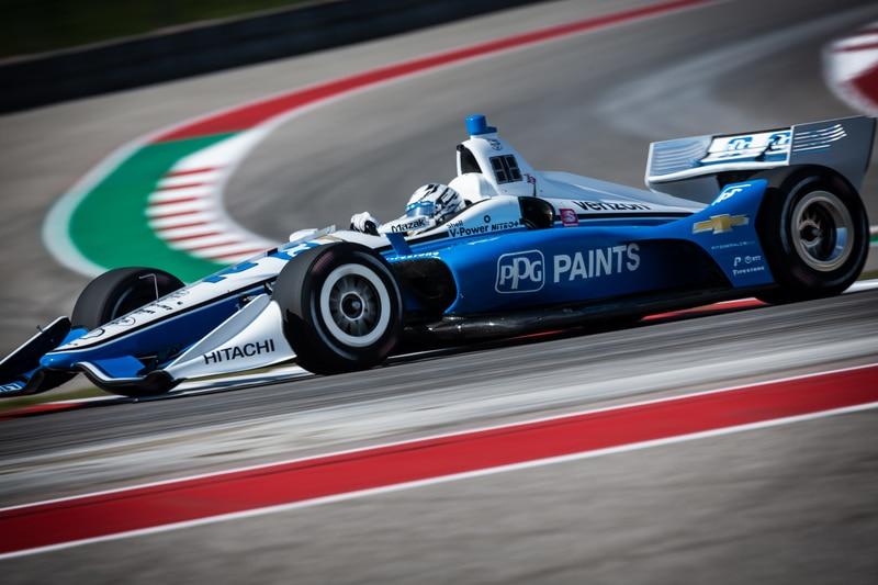 Josef Newgarden (USA), Team Penske, 2019 NTT IndyCar Series, Circuit of the Americas, Practice