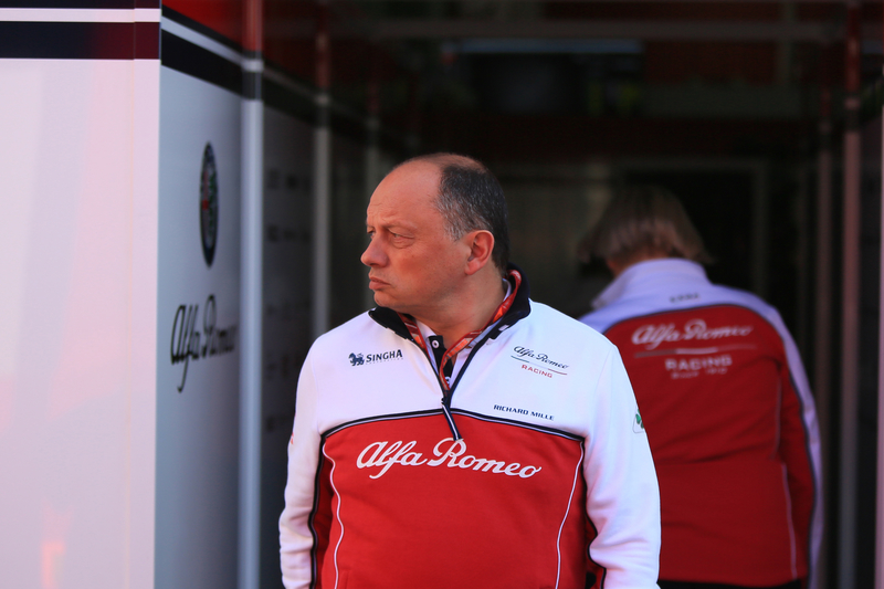 Frederic Vasseur - Alfa Romeo Racing at the Circuit de Barcelona-Catalunya on the first day of the first 2019 FIA Formula 1 World Championship pre-season test.