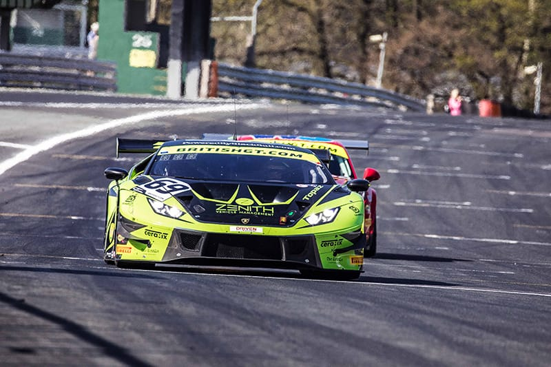 The Barwell Motorsport Lamborghini Huracan GT3 EVO of Jonny Cocker and Sam De Haan