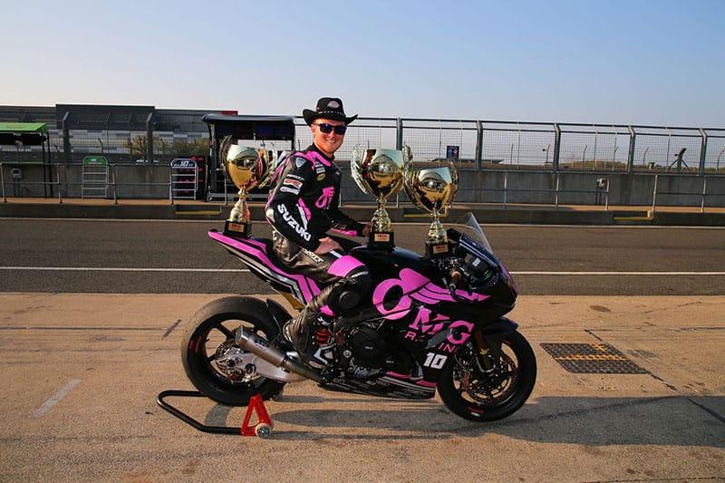 Josh Elliot and OMG Suzuki Celebrate maiden victory