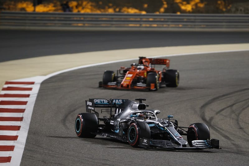 Lewis Hamilton & Sebastian Vettel - Mercedes-AMG Motorsport & Scuderia Ferrari - Sakhir International Circuit