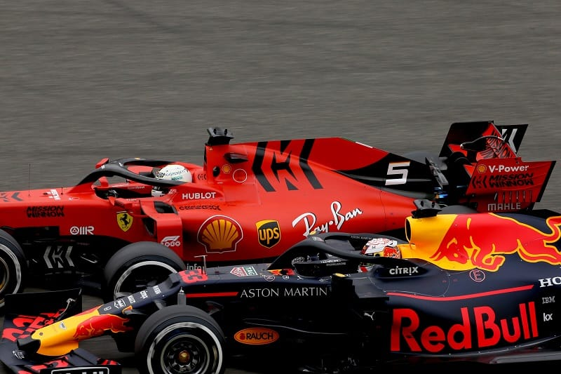 Sebastian Vettel & Max Verstappen - Scuderia Ferrari Mission Winnow & Aston Martin Red Bull Racing - Shanghai International Circuit