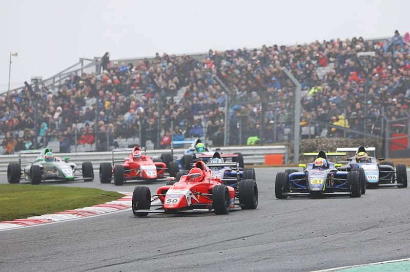 The F4 field at Brands Hatch.