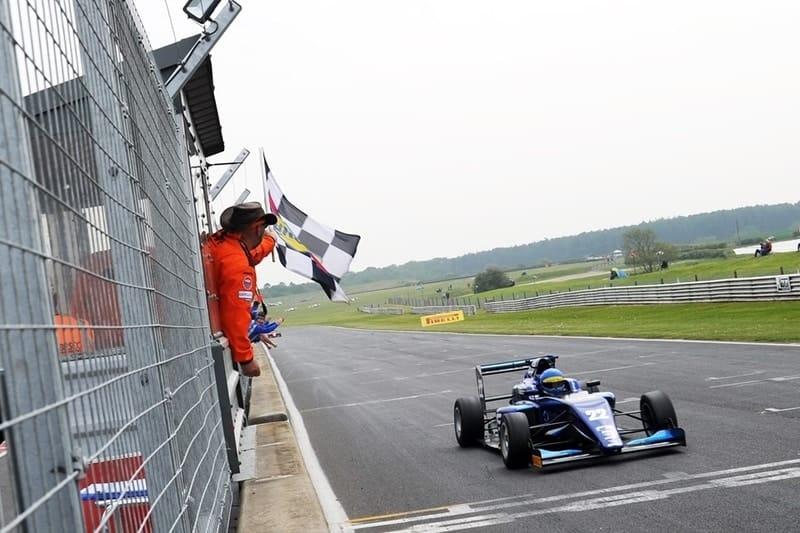 Lucas Petersson wins reverse-grid race at Snetterton