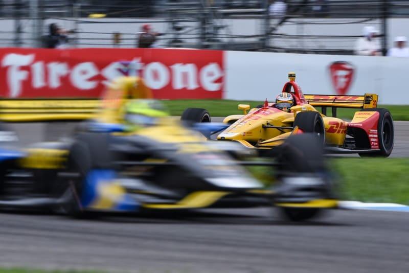 Ryan Hunter-Reay (USA), Zach Veach (USA), Andretti Autosport, 2019 NTT IndyCar Series, Indianapolis