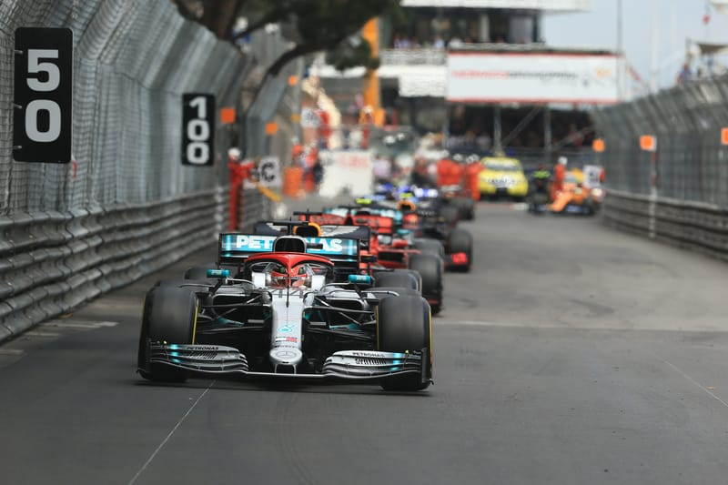 Lewis Hamilton - Mercedes AMG Petronas Motorsport at the 2019 Formula 1 Monaco Grand Prix - Circuit de Monaco - Race