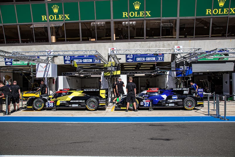 The Jackie Chan DC Racing #37 and #38 LMP2 entries for 2019 24 Hours of Le Mans