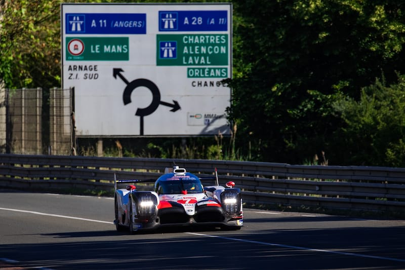 Toyota Gazoo Racing hold their advantage over the LMP1 Privateers for the 24 Hours of Le Mans