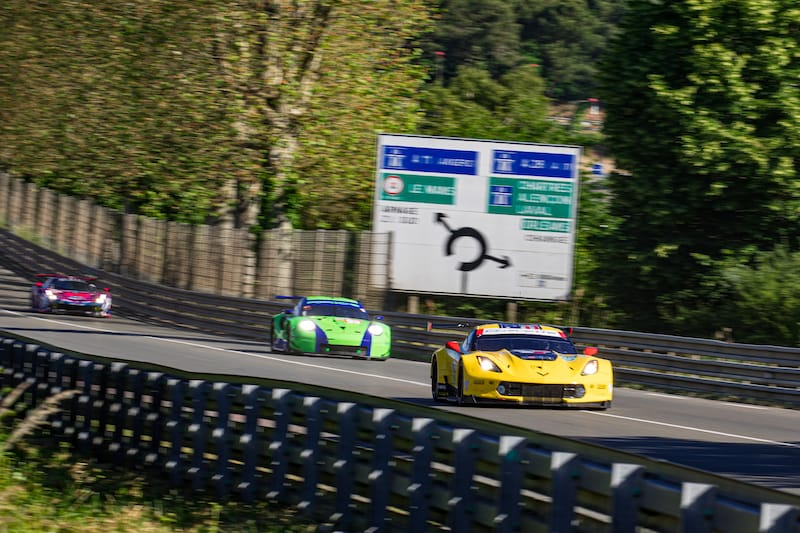 Corvette Racing, pace setters of LM GTE Pro, on track for the Le Mans Test Day