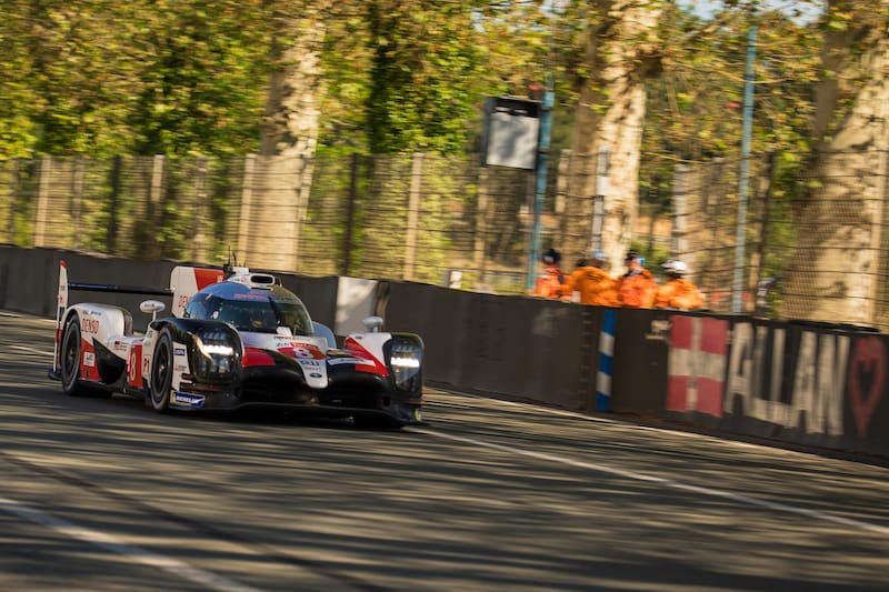 Toyota Gazoo Racing, pace setters of LMP1, on track for the Le Mans Test Day