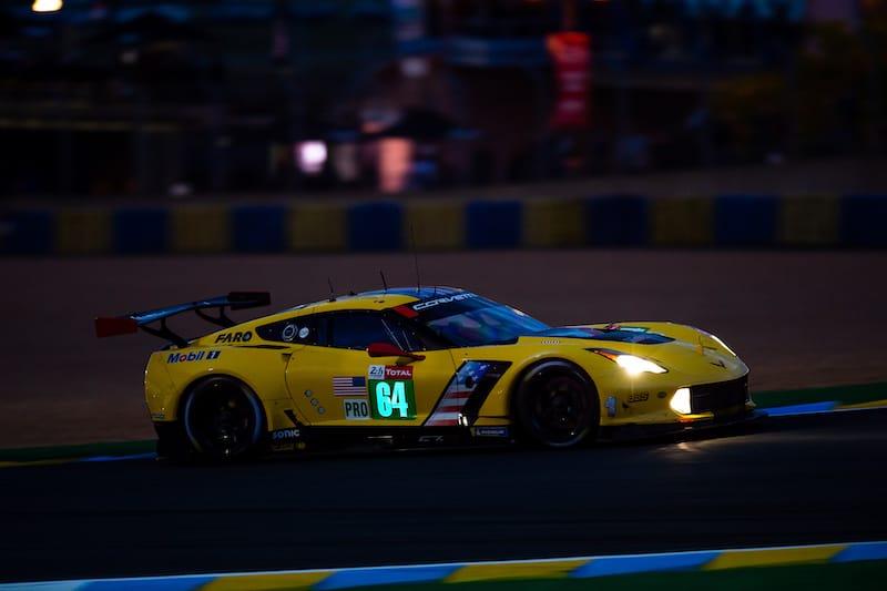 Corvette Racing at night