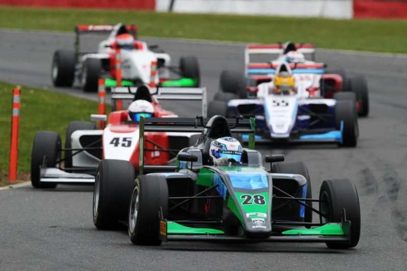 Pavan Ravishankar at Silverstone for his first British F3 win last year